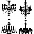 Chandeliers collection — Stockvectorbeeld