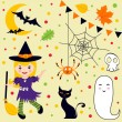 Halloween fun set — Stock Vector #12849818