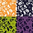 Royalty-Free Stock ベクターイメージ: Halloween seamless pattern