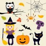 Cute Halloween collection — Stock Vector