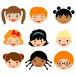 Kids faces — Stock Vector #12849832