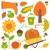 Autumn set — Stock Vector