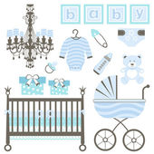 Baby boy set — Stock Vector