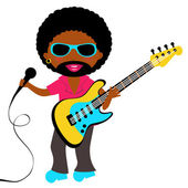 African - American Rock star — Stock Vector