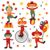 Happy clowns — Stock Vector