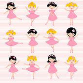 Beautiful ballerinas — Vector de stock