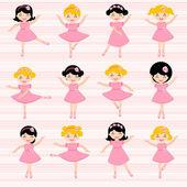 Piękne ballerinas — Wektor stockowy