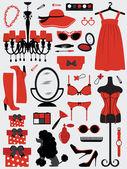 Acessórios de moda das mulheres — Vetorial Stock