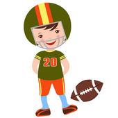 Football player — Stock Vector