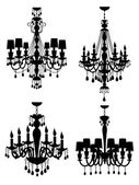 Chandeliers collection — 图库矢量图片