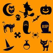 хэллоуин иконки — Cтоковый вектор