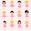Beautiful ballerinas — Stock Vector #12866543