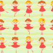 Royalty-Free Stock Vector Image: Little ballerinas seamless background