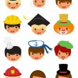 Professional occupations icons — Stock Vector
