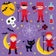 Red devils halloween - Stock Vector