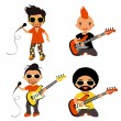 Rock stars set — Stock Vector #13266440
