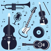 Musical instruments set — Stock Vector