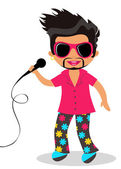 Rock star — Stock Vector