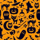 Sömlös halloween bakgrund — Stockvektor