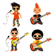 Rock stars set — Stock Vector