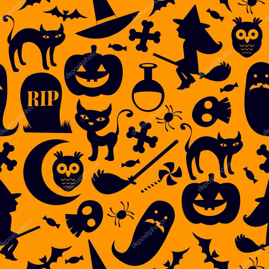 A spooky seamless halloween background  Stock Vector #13266438