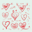 Hand drawn hearts collection — Stock Vector #14088372