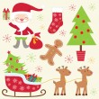 Cute Christmas collection — Vector de stock