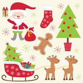 Cute Christmas collection — Stock Vector