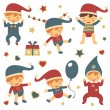 Christmas babies set — Vector de stock