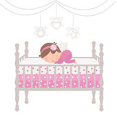 Little angel sleeping — Stock Vector