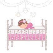 Little angel sleeping — Stock Vector