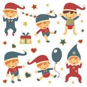 Christmas babies set — Stock Vector