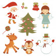 Fun Christmas set — Stock Vector