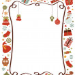 Vector de stock : Christmas border