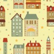 Cute city pattern — Stock Vector