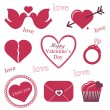 Valentine icons — Stock Vector #19234953