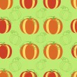 Pumpkin seamless pattern — Vector de stock