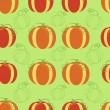 Бесшовный узор из тыквы — Cтоковый вектор