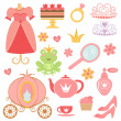 Princess collection — Stock Vector