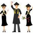 Happy graduation — Stock Vector