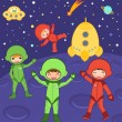 Cosmic kids — Stock Vector