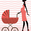 Stockvector : Chic pregnancy