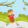 Boy on roller blades — Stock Vector #19235277