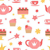 Royal tea party — Stock Vector
