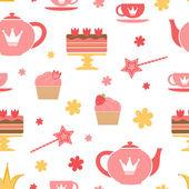 Royal tea party — Stock Vector