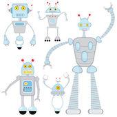 Cute robots set — Stock Vector
