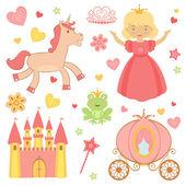 Princess icons — Stock Vector