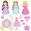 Princess party — Vector de stock