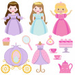 Prinzessin party — Stockvektor