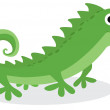 Cute iguana character — Stock Vector